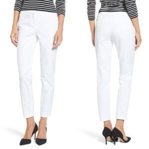 NEW Halogen White Cropped Ankle Pants 00 Petite